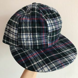 NWOT American apparel flannel plaid hat cap